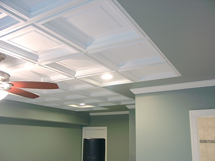 Luxury Ceiling Tile Options Basement