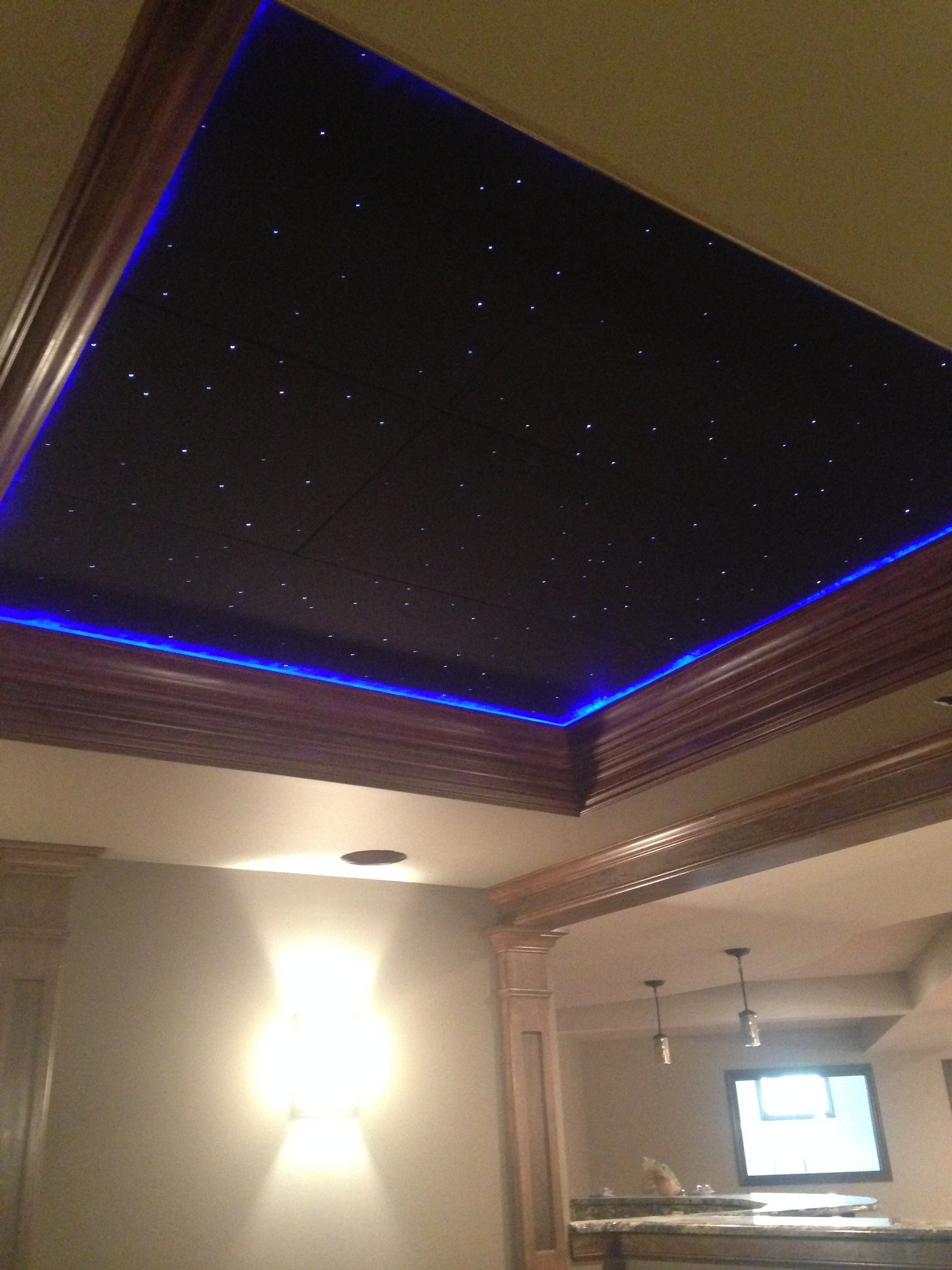 Fiber optic star ceiling panels made with quality acoustic surface mount installtion video dailygadgetfo Image collections