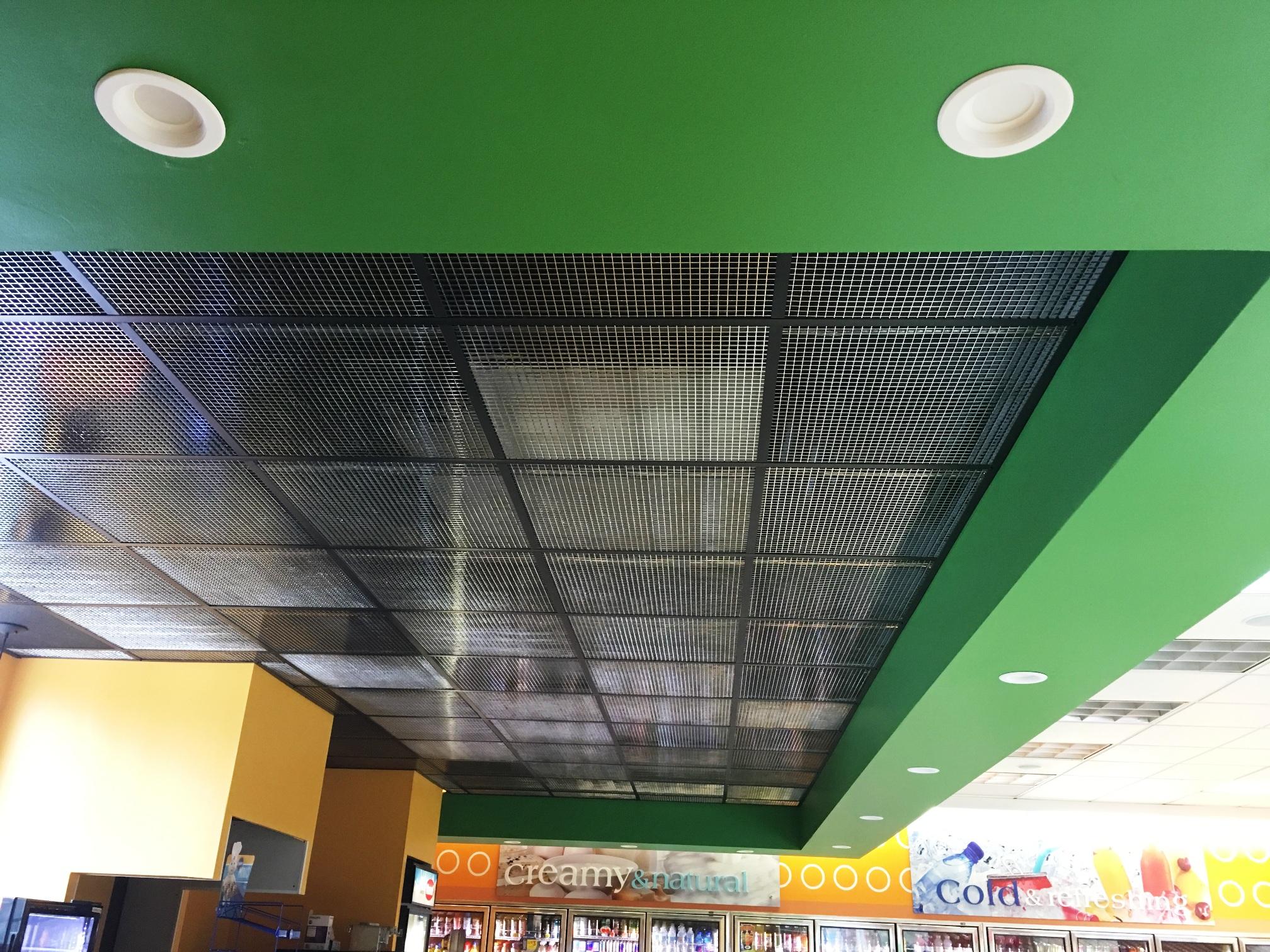 Plastic Eggcrate Ceiling Tiles White Black Or Chrome