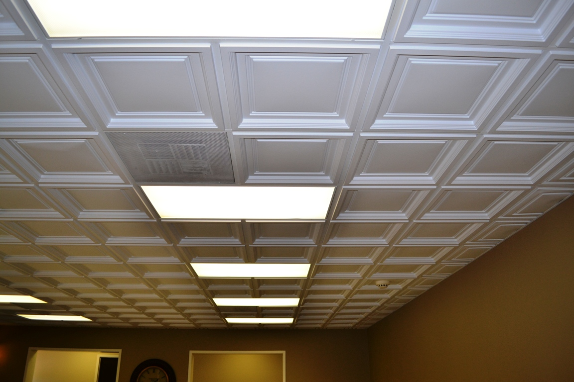 Westminster coffered ceiling tile intersource for Foam coffered ceiling