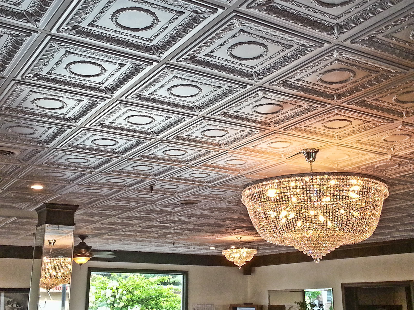 Antiqued Faux Metal Ceiling Tiles Intersource Specialties