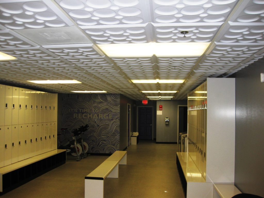 Opaque ceiling tiles