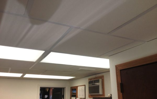 Insulated Fiberglass Ceiling Tiles With Noise Absorption Isc