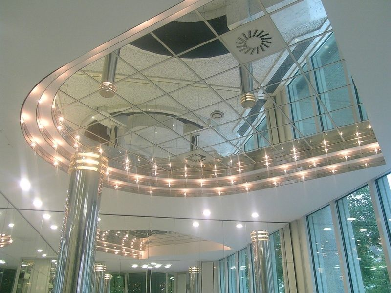 Glue Up Ceiling Tiles >> Strong Mirror Ceiling Tiles For High End Reflective